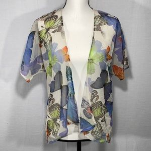 WD N.Y. kimono sheer with butterfly print XS